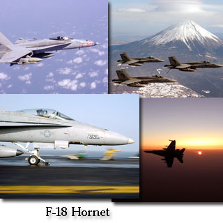 Screenshots from the F-18 Hornet Screen Saver and Wallpaper